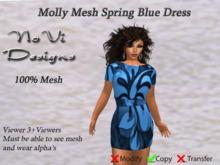 Molly Mesh Tunic Dress - Blue