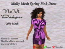 Molly Mesh Floral Tunic Dress - Spring Pink
