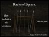 Old World Designs Racks of Medieval Spears Set.