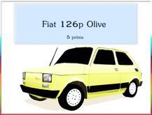 Fiat 126p olive  only 5 prims POLISH PRIDE