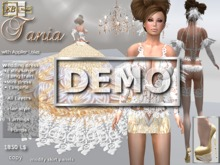EB Atelier  **TANIA DEMO ** Wedding dress w/ Lolas Omega Slink Appliers -italian designer
