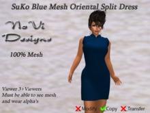 Suko Blue Mesh Split Dress