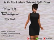 SuKo Black Mesh Split Dress