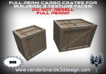 ~Full perm cargo crates 100% mesh! 3 texture faces