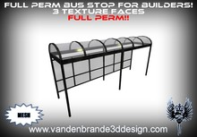 ~Full perm Bus Stop 100% mesh! 3 texture faces