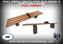 ~Full perm Bench 100% mesh! 3 texture faces