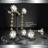 ((Crystal Line))Diamond Petit pierce-Brilliant*Unisex