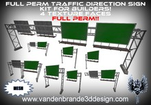 ~Full perm Traffic direction signs kit 100% mesh! 4 texture faces