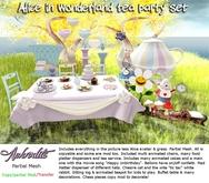 """Alice in wonderland"" complete tea party set -Rezzday/ birthday party"