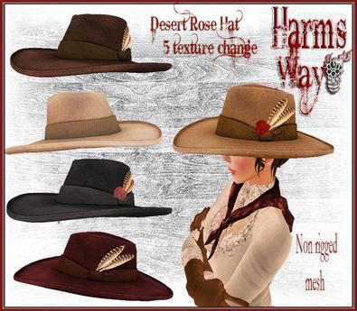 Harm's Way Desert Rose Hat 5 texture change
