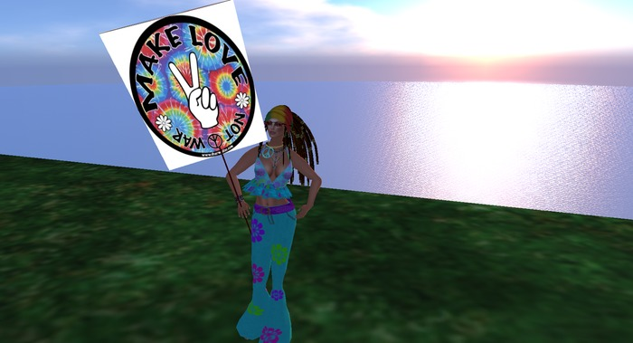 Peace sign Make Love not War hand held