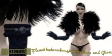 Eclectica 'Flaunt' Feathers & Gloves in Midnight