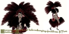 Eclectica 'Flaunt' Feathers & Gloves in Red Purple