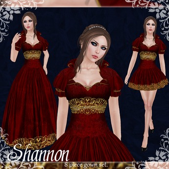 [K~*~S] Shannon - Gown - Scarlet (Gold)