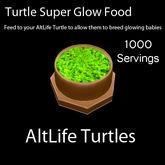 Turtle Super Glow Food - 1000 Servings (BOXED)