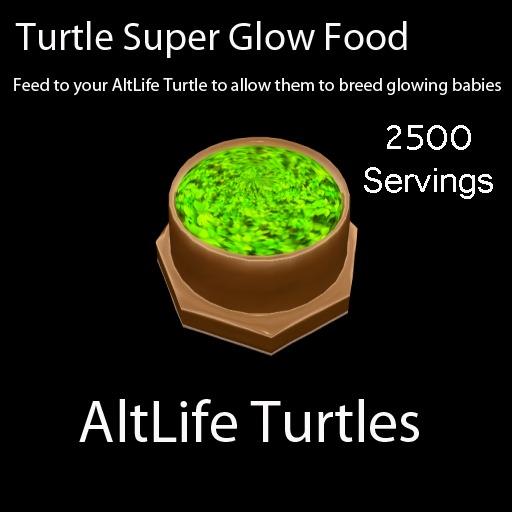 Turtle Super Glow Food - 2500 Servings (BOXED)