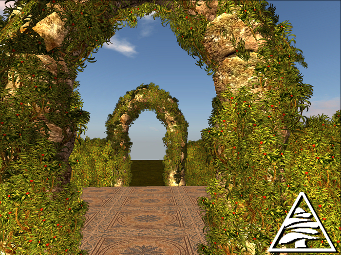 Garden Arch + Hedge COPY MODIFY
