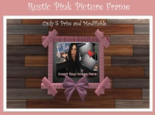 Pink Rustic Picture Frame