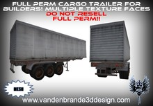 ~Full perm Cargo trailer 100% mesh! Multiple texture faces