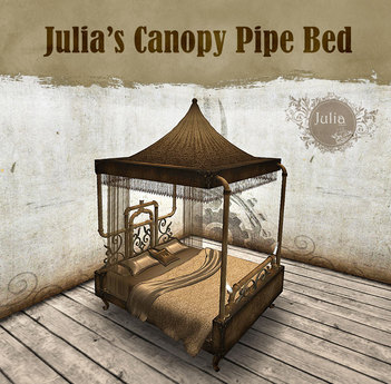 Steampunk Canopy Bed