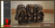 3 Monkey Statue Full perm EFE DESIGN