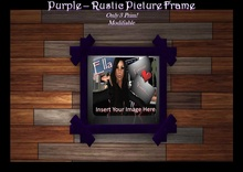 Purple Rustic Picture Frame