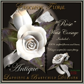 L&B - Wrist Corsage - Rose - Antique White