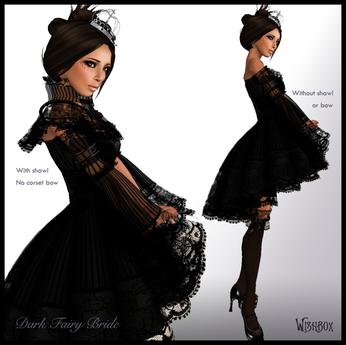 [Wishbox] Dark Fairy Bride - Victorian Doll Gothic Wedding Gown Dress Goth Fantasy