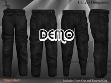 DE Designs - Mens Canvas Dungarees - DEMO