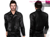%50WINTERSALE FULL PERM CLASSIC RIGGED MESH Men's Male Closed Front Long Sleeve Black Leather Biker Jacket