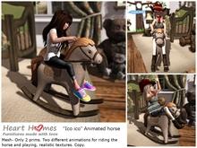 "<HEART HOMES> ""Little Hunter""  Ico Rockable horse ridable (box)"
