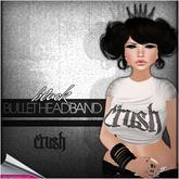 crush - bullet headband - blk