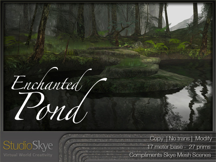 Four Season Enchanted Pond from Studio Skye 100% MESH