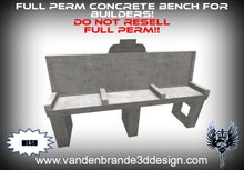 ~Full perm Concrete bench 100% mesh!