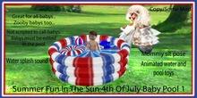 Summer fun In the sun 4th of July Baby pool 1
