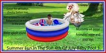 Summer fun In the sun 4th of July Baby pool 3