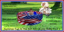 Summer fun In the sun 4th of July Baby pool 2