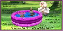 Summer fun In the sun Baby Girly  pool 1