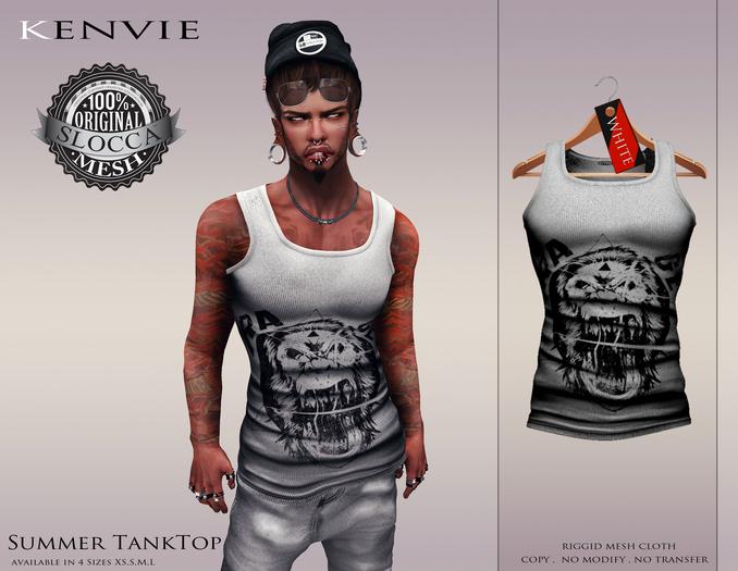 KENVIE . Summer TankTop White