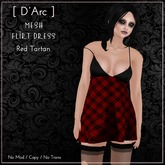 [D'Arc] Flirt Dress - Red Tartan
