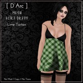 [ D'Arc ] Mesh Flirt Dress - Lime Tartan