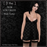 [ D'Arc ] Mesh Flirt Dress - Black Tartan