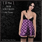[ D'Arc ] Mesh Flirt Dress - Lilac Tartan