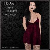 [ D'Arc ] Mesh Flirt Dress - Wine Velvet