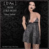 [ D'Arc ] Mesh Flirt Dress - Silver Velvet