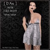 [ D'Arc ] Mesh Flirt Dress - White Velvet