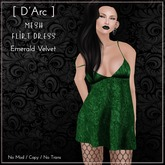 [ D'Arc ] Mesh Flirt Dress - Forest Velvet
