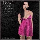 [ D'Arc ] Mesh Flirt Dress - Pink Velvet