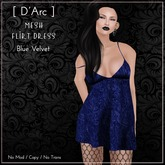 [ D'Arc ] Mesh Flirt Dress - Blue Velvet