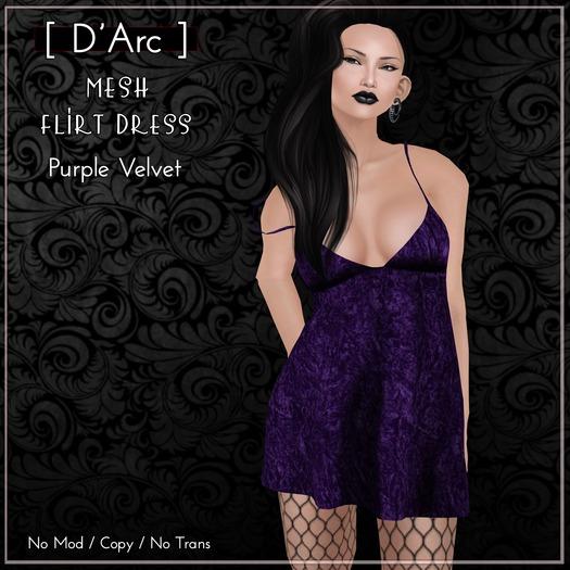 [ D'Arc ] Mesh Flirt Dress - Purple Velvet